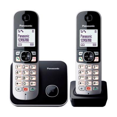Teléfono inalámbrico KX-TG6852SPB DUO Negro