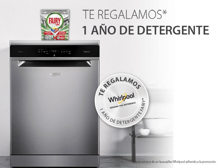 Compra un lavavajillas Whirlpool y te regalamos 1 año de detergente