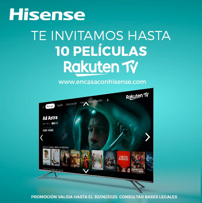 Compra un televisor Hisense y te invitamos hasta 10 códigos en Rakuten TV