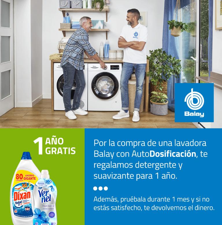 Compra tu Lavadora Balay con AutoDosificación y consigue 1 año gratis de detergente y suavizante