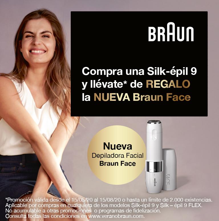 Compra tu Silk-épil y consigue una Braun Face gratis