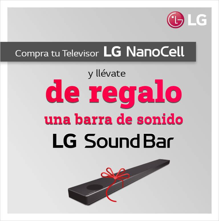 Compra tu Televisor LG Nanocell y consigue una Barra de Sonido