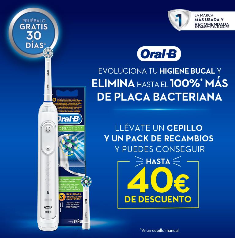 Compra tu Cepillo Eléctrico y Recambio Oral B y consigue hasta 40€ de reembolso
