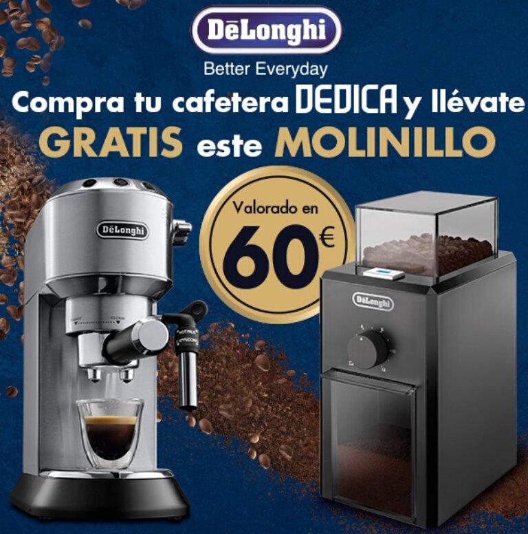 Compra tu Cafetera Dedica De´Longhi y consigue un molinillo de café de regalo