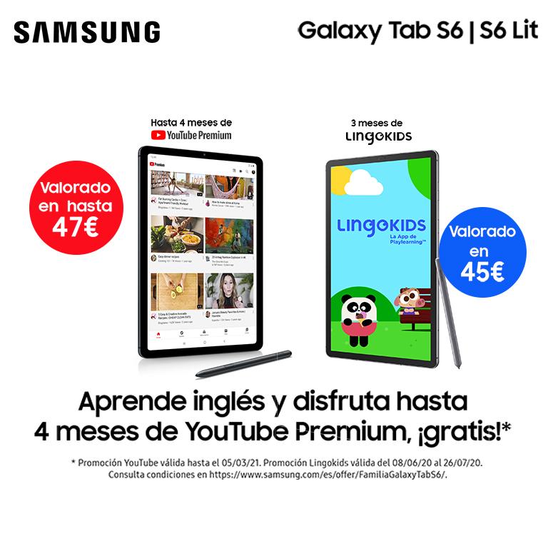 Compra tu Tablet Samsung Galaxy Tab S6 y consigue 3 meses gratis en Lingokids
