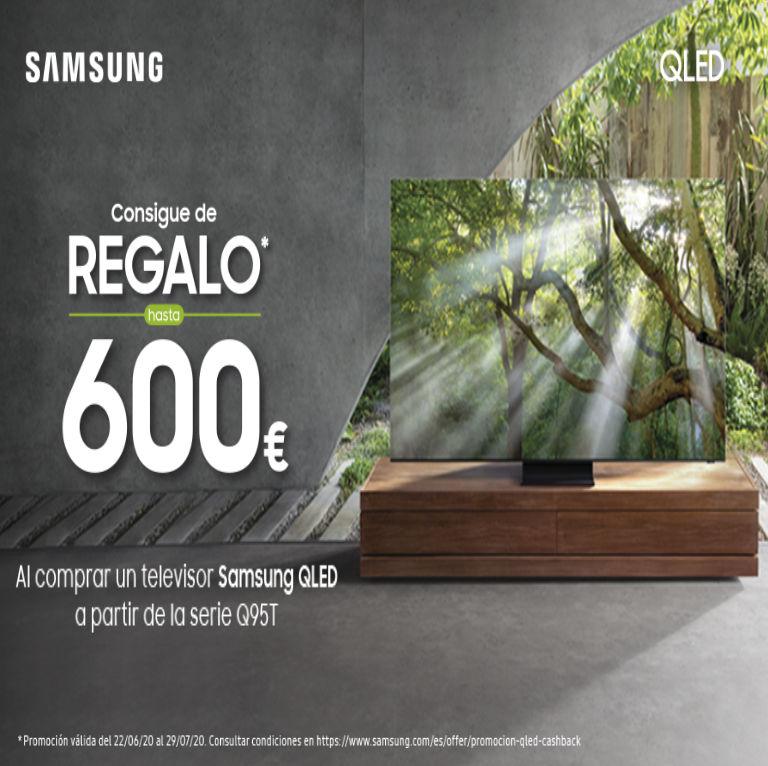 Compra tu Televisor QLED Samsung y consigue hasta 600€ de regalo