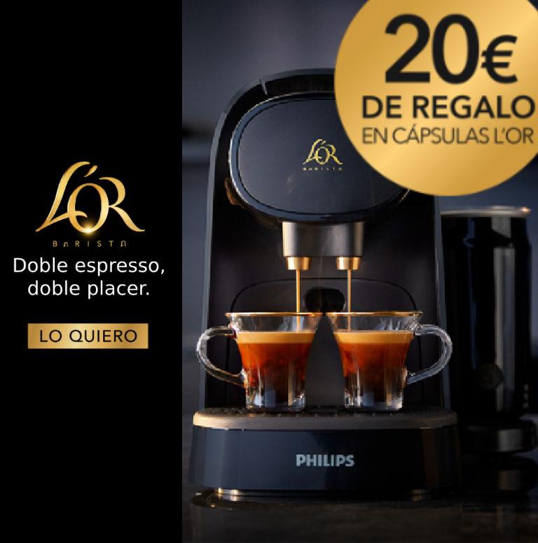 Compra tu Cafetera L´OR Philips y consigue 20€ de regalo en cápsulas