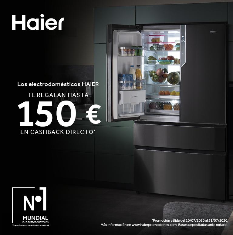 Consigue hasta 150€ de reembolso por la compra de tu Electrodoméstico HAIER