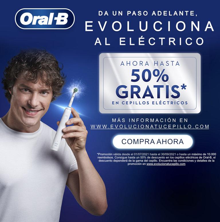 Llévate hasta un 50% de reembolso por la compra de tu producto Oral B