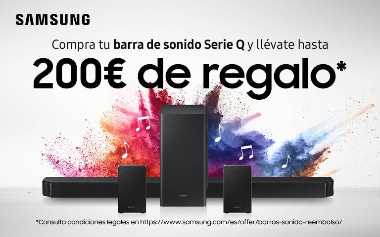 Compra tu Barra de Sonido Q Samsung y consigue hasta 200€ de reembolso