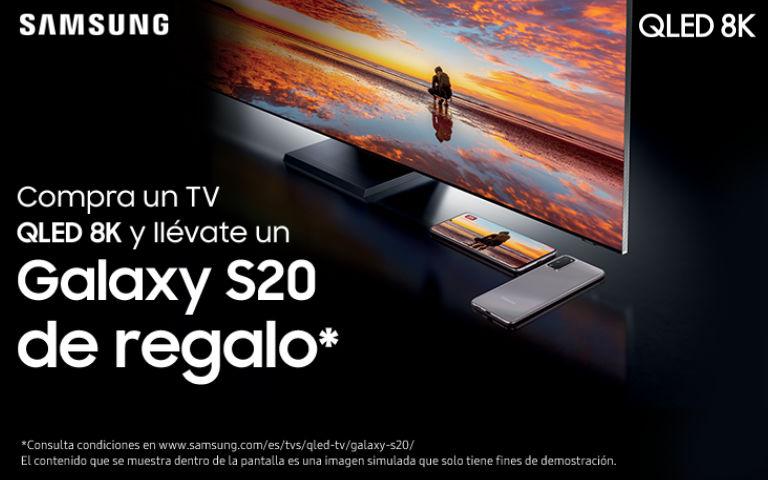 Consigue un Smartphone Samsung Galaxy S20 por la compra de tu Televisor Samsung QLED 8K