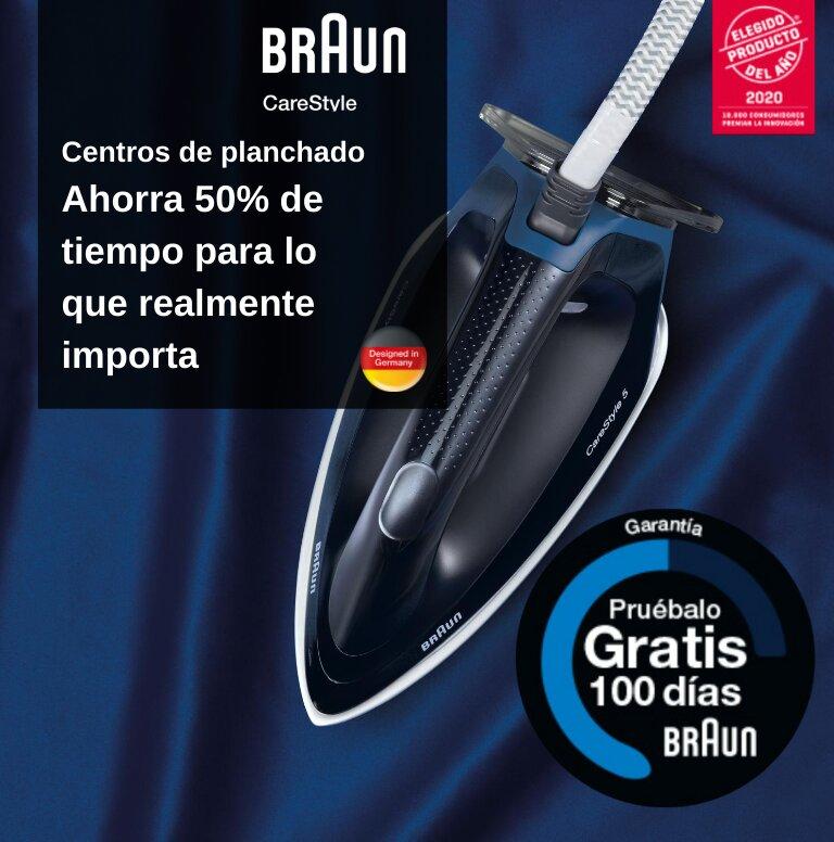 Compra tu Centro de Planchado Braun y consigue 100 días de prueba