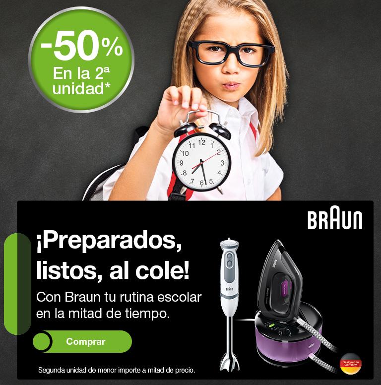 Llévate un reembolso del 50% de la segunda unidad por la compra de una selección de productos Braun