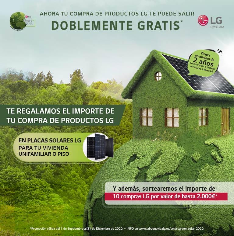 Consigue tu compra doblemente gratis por la compra de productos LG