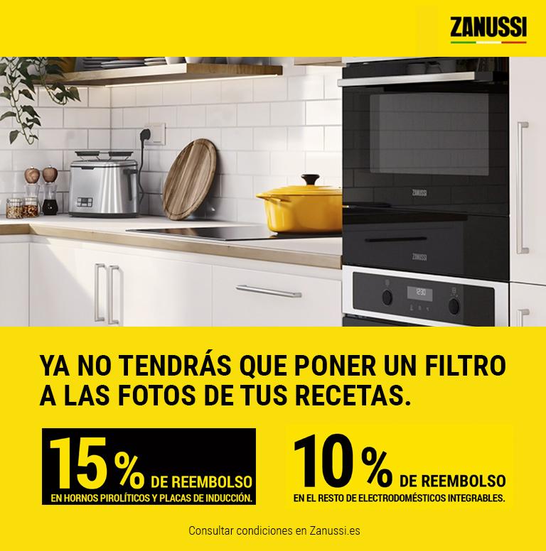 Compra un electrodoméstico encastrable Zanussi y consigue hasta un 15% de reembolso