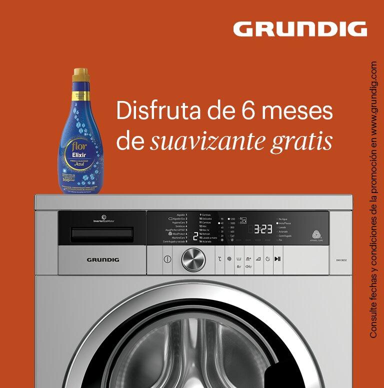 Llévate 6 meses de suavizante gratis por la compra de tu lavadora Grundig