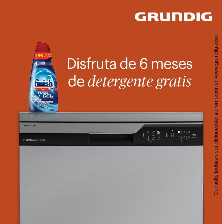 Llévate 6 meses de detergente gratis por la compra de tu lavavajillas Grundig