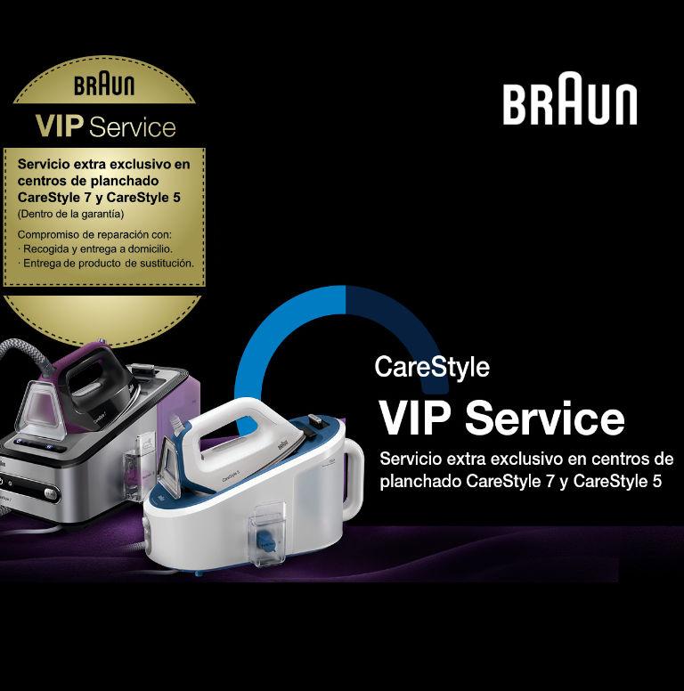 Consigue un Servicio Premium por la compra de tu Centro de Planchado CareStyle de Braun
