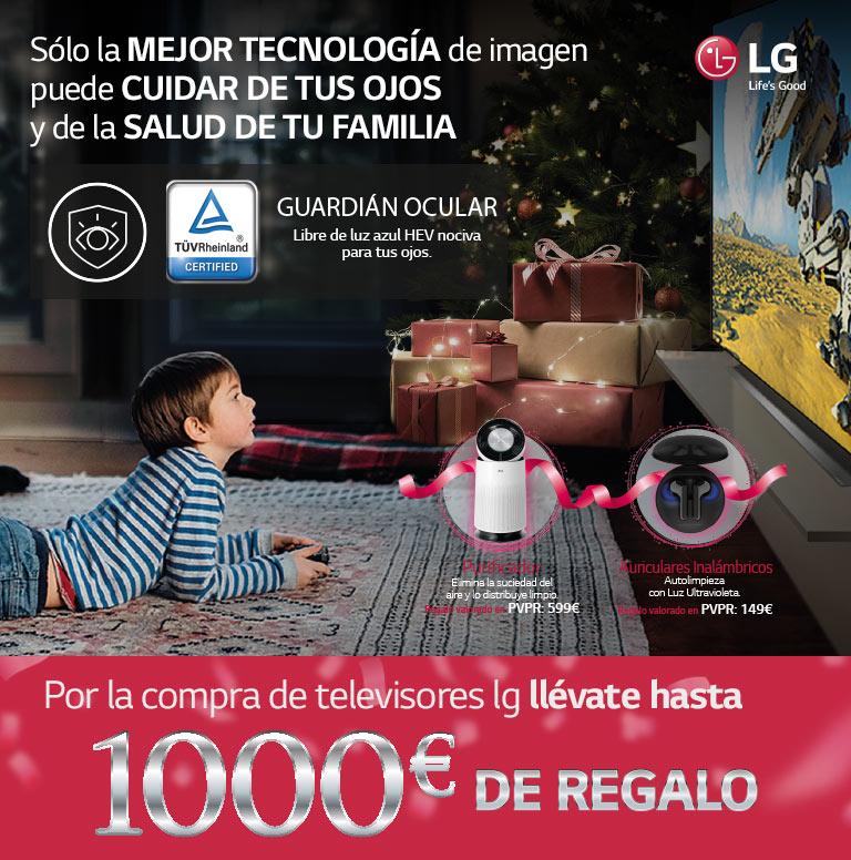 Compra tu Televisor OLED o Nanocell de LG y consigue un reembolso determinado de hasta 1000€ o un producto de regalo