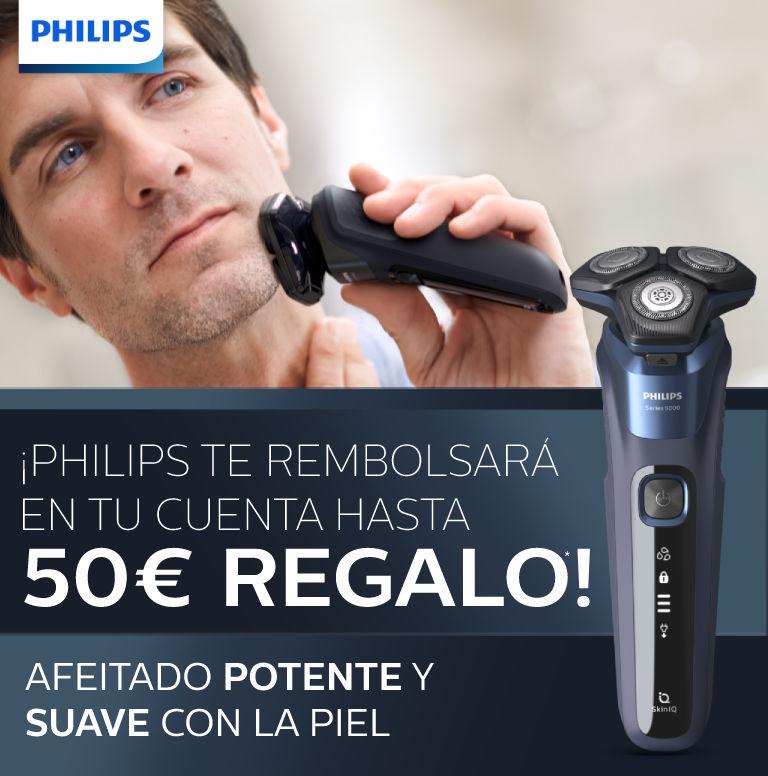 Llévate hasta 50€ de reembolso por la compra de tu afeitadora Philips