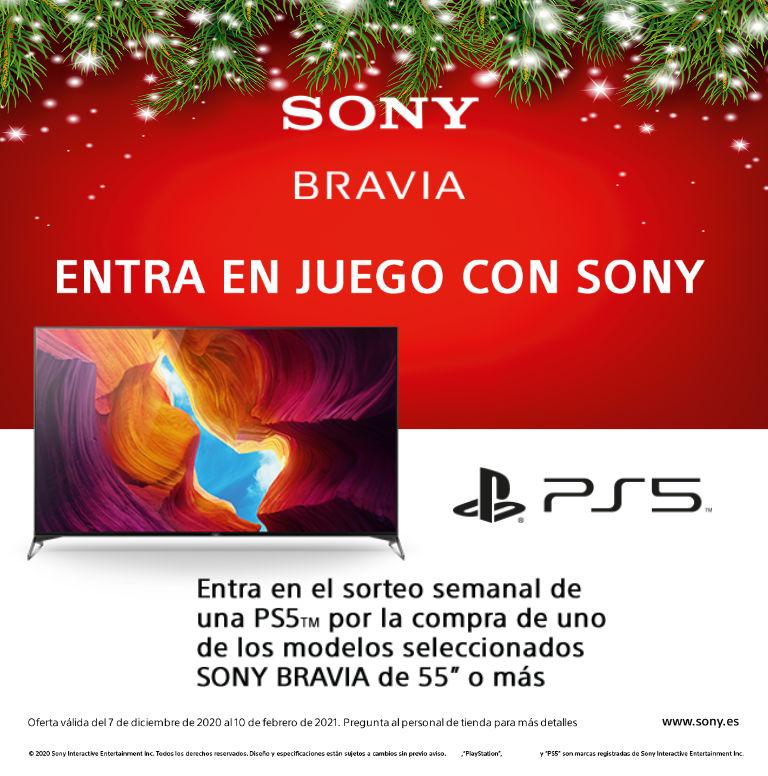 Llévate la posibilidad de participar en el sorteo de una Playstation 5 por la compra de tu televisor Bravia de Sony