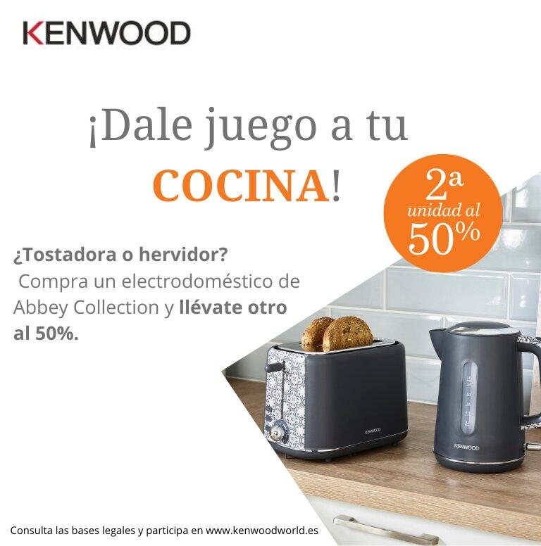 Compra tu producto Abbey Collection de Kenwood y consigue un 50% de reembolso en la segunda unidad