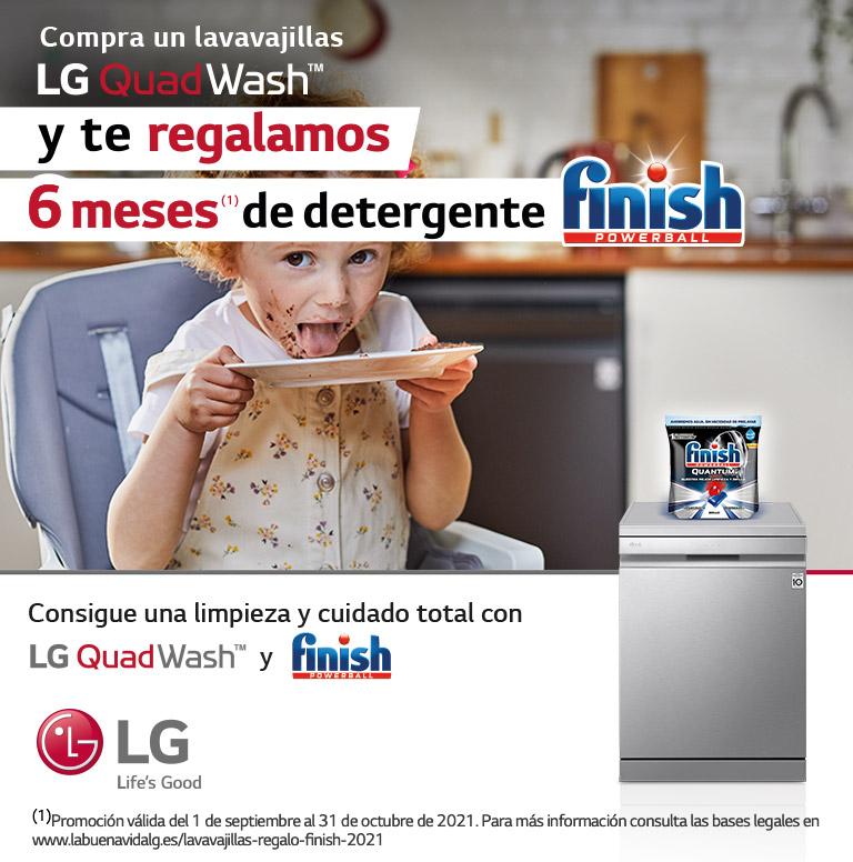 Llévate 6 meses de Finish Powerball gratis por la compra de tu lavavajillas LG