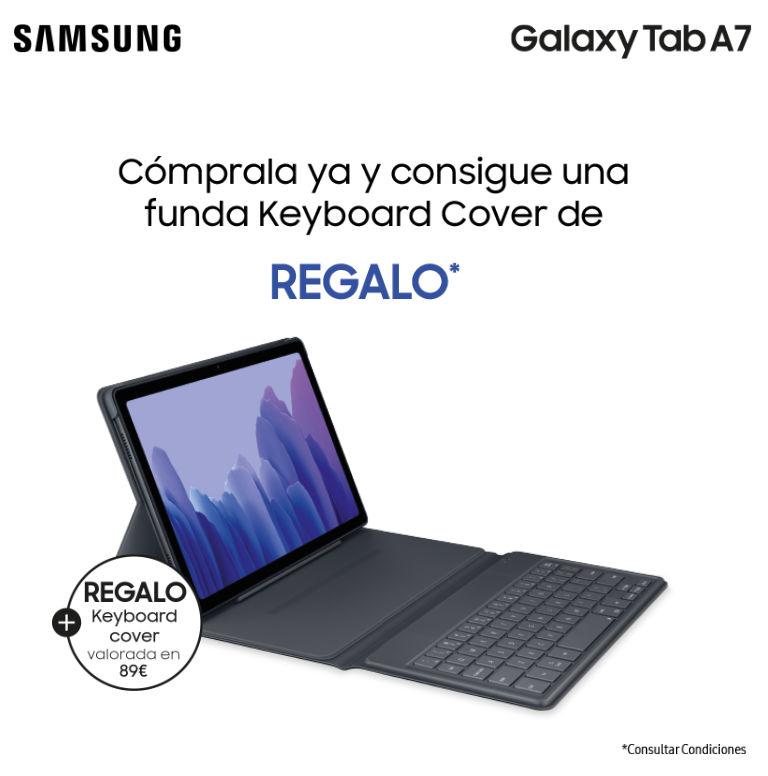Compra una tablet Samsung Tab A7 y consigue una funda teclado de regalo