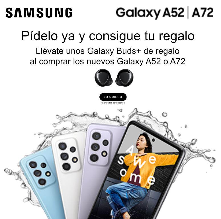 Llévate un set de Galaxy Buds de regalo por la compra de tu smartphone Galaxy A52 o A72 Samsung
