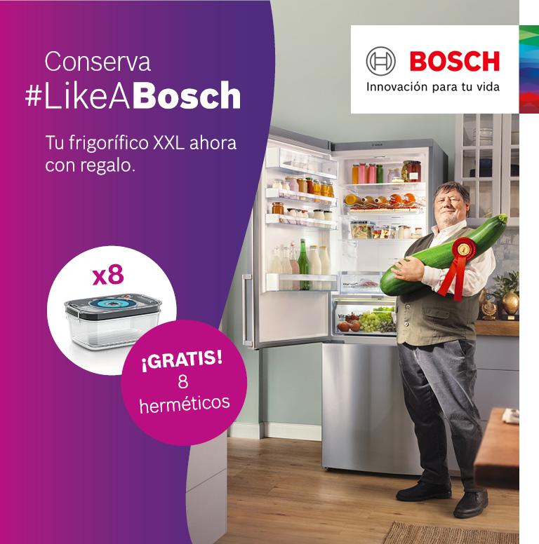 Llévate unos recipientes herméticos por la compra de tu frigorífico Combi Bosch