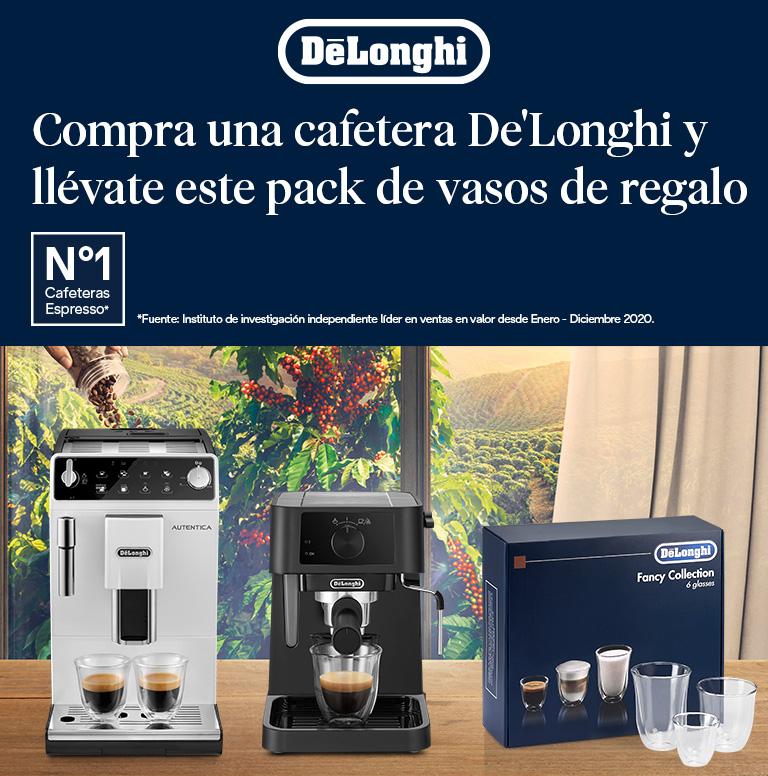 Llévate una Fancy Box Collection de 6 vasos por la compra de tu cafetera superautomática o espresso De'Longhi