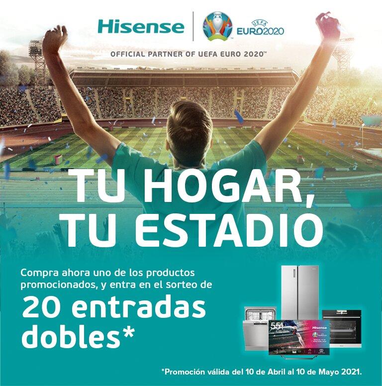 Llévate entradas para la Eurocopa 2020 por la compra de tu producto Hisense