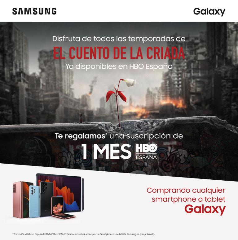 Llévate una suscripción de un mes de HBO por la compra de tu smartphone o tablet Samsung