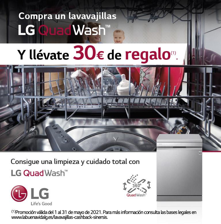 Llévate 30€ de reembolso por la compra de tu lavavajillas LG