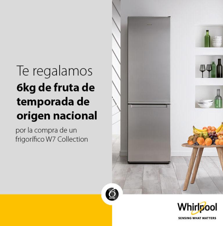 Llévate una caja de fruta de 6 kg por la compra de tu frigorífico Whirlpool