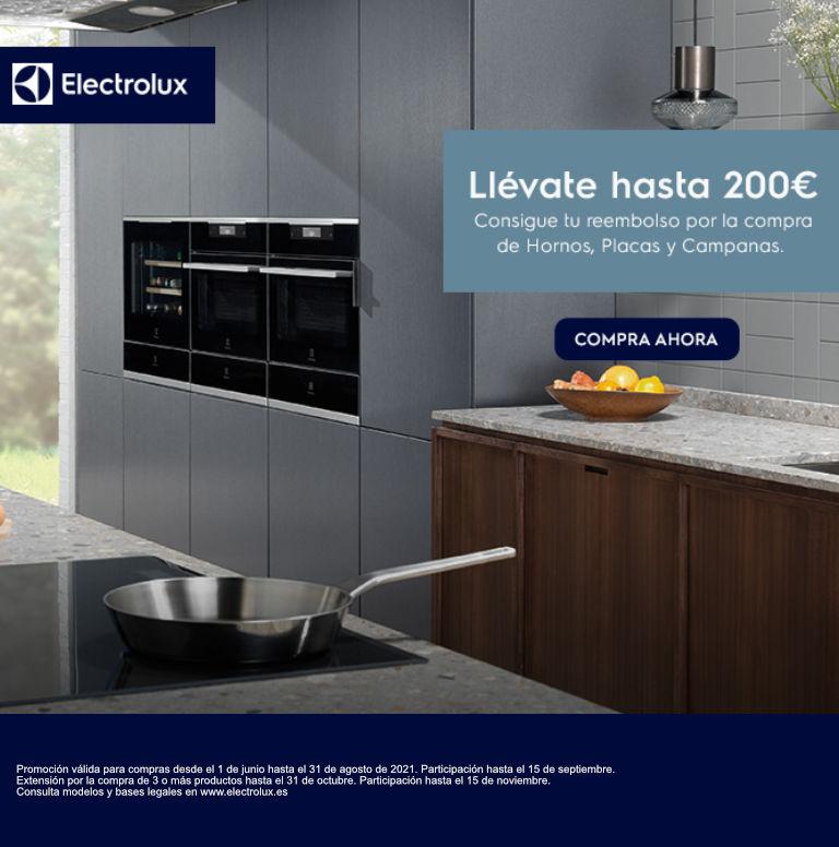 Llévate hasta 200 euros de reembolso por la compra de tu electrodoméstico de cocina Electrolux