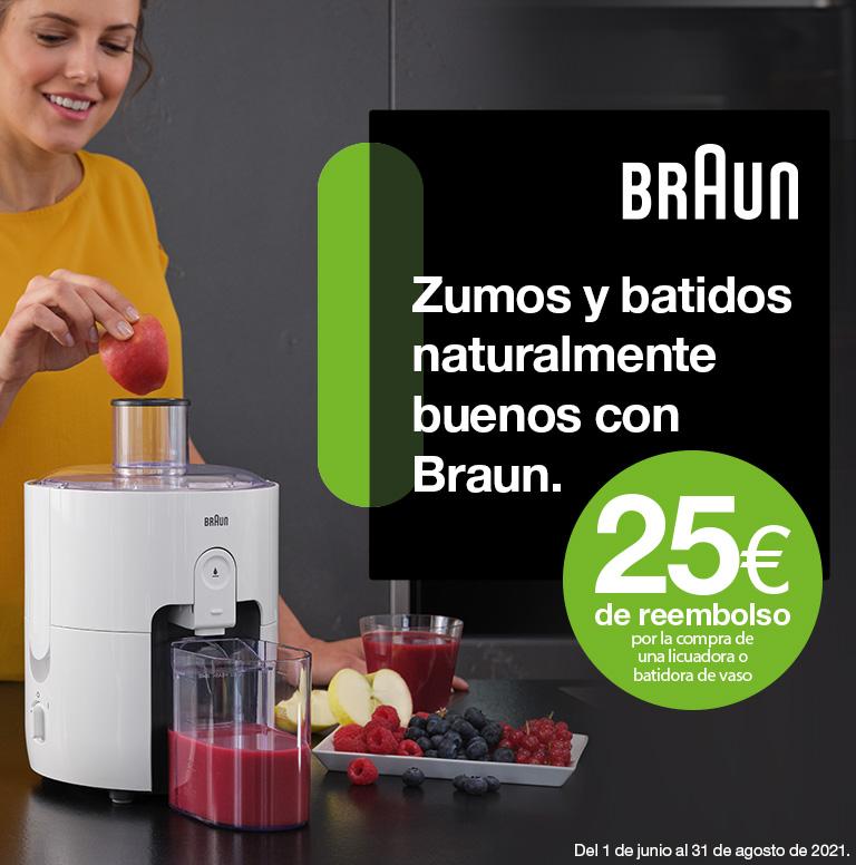 Llévate 25 euros de reembolso por la compra de tu batidora de vaso o licuadora Braun