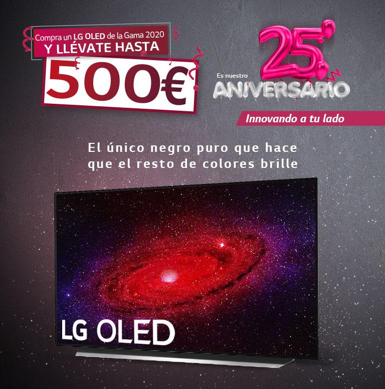 Llévate un reembolso de hasta 500 euros por la compra de tu televisor OLED LG