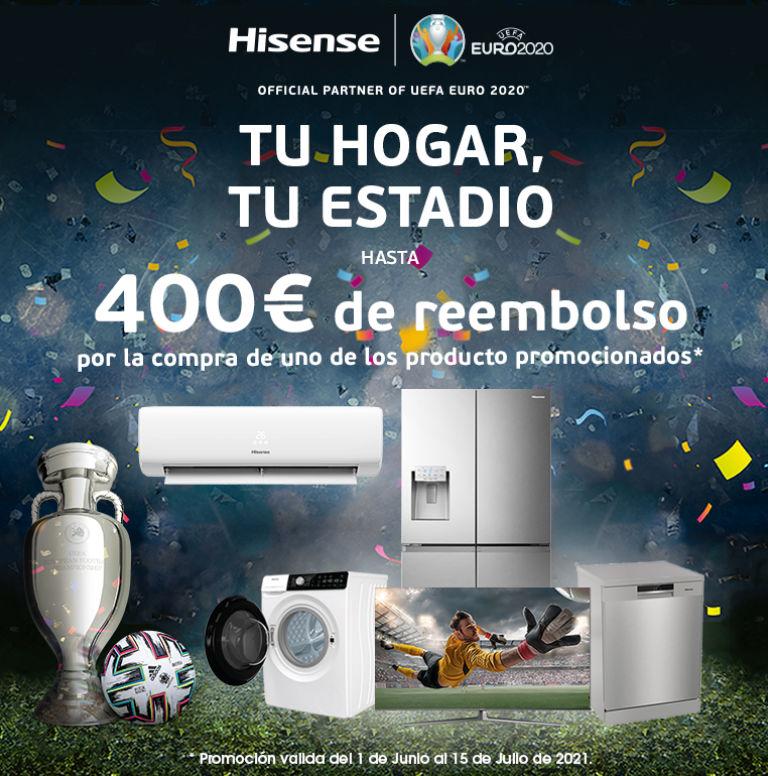 Llévate un reembolso de hasta 400 euros por la compra de tu producto Hisense
