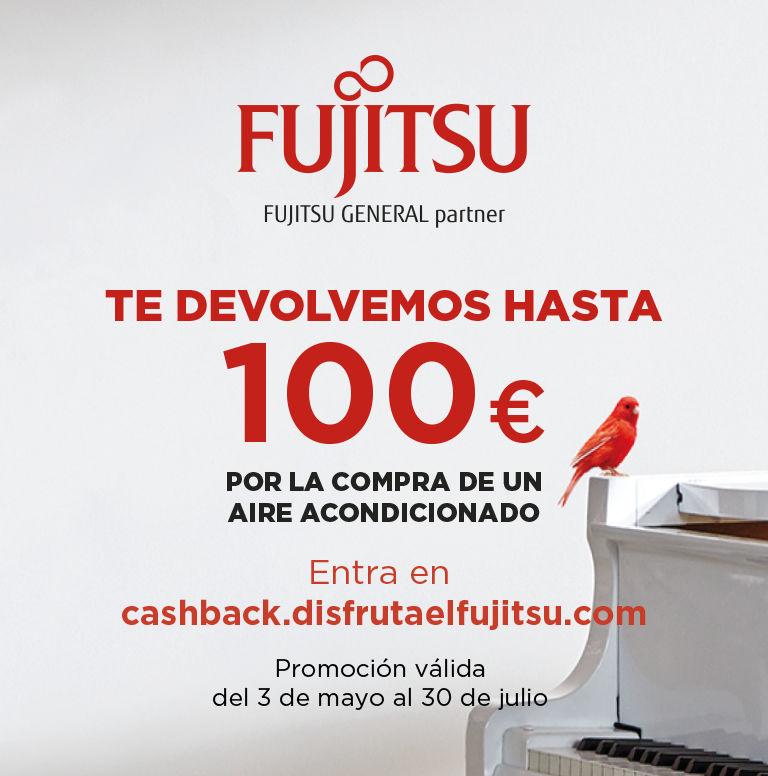 Llévate un reembolso de hasta 100 euros por la compra de tu Aire Acondicionado Fujitsu
