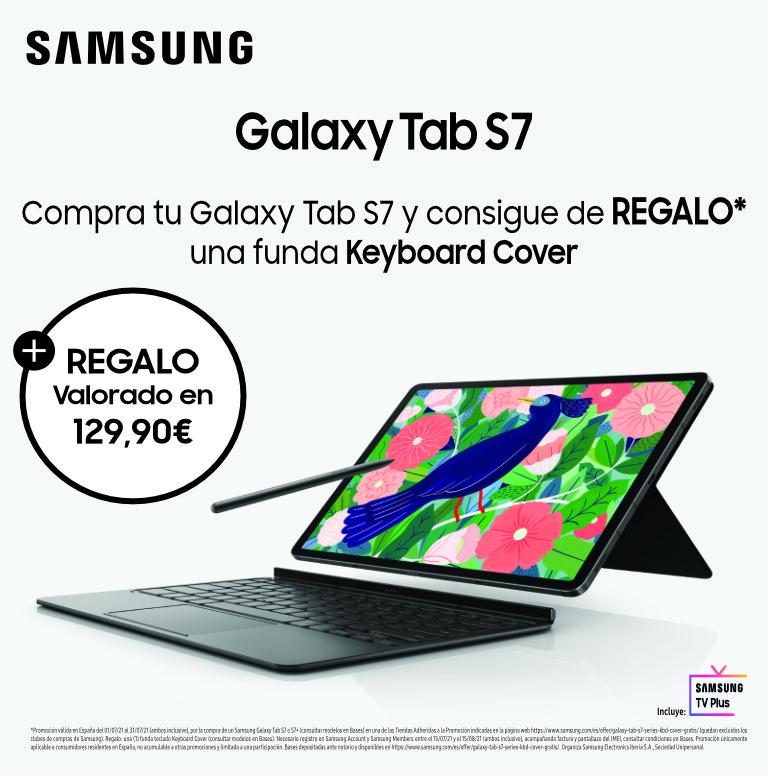 Llévate una funda teclado de regalo por la compra de tu tablet Tab S7 o S7+ Samsung