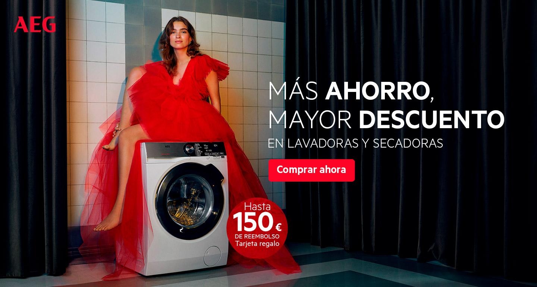 Llévate hasta 150 euros de reembolso por la compra de tu lavadora o secadora AEG