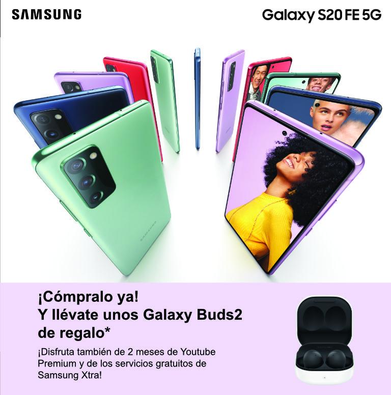 Llévate unos auriculares Galaxy Buds2 de regalo por la compra de tu smartphone Galaxy S20 Samsung