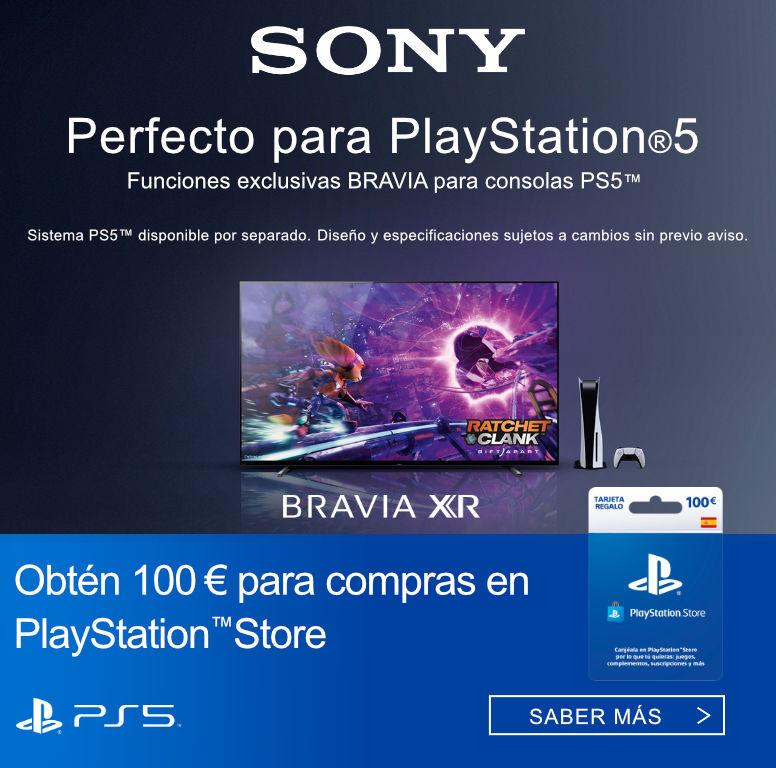 Llévate 100 euros de compra en Playstation Store por la compra de tu televisor Bravia XR Sony