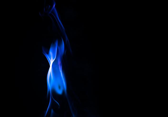 estufa de gas de llama azul delonghi