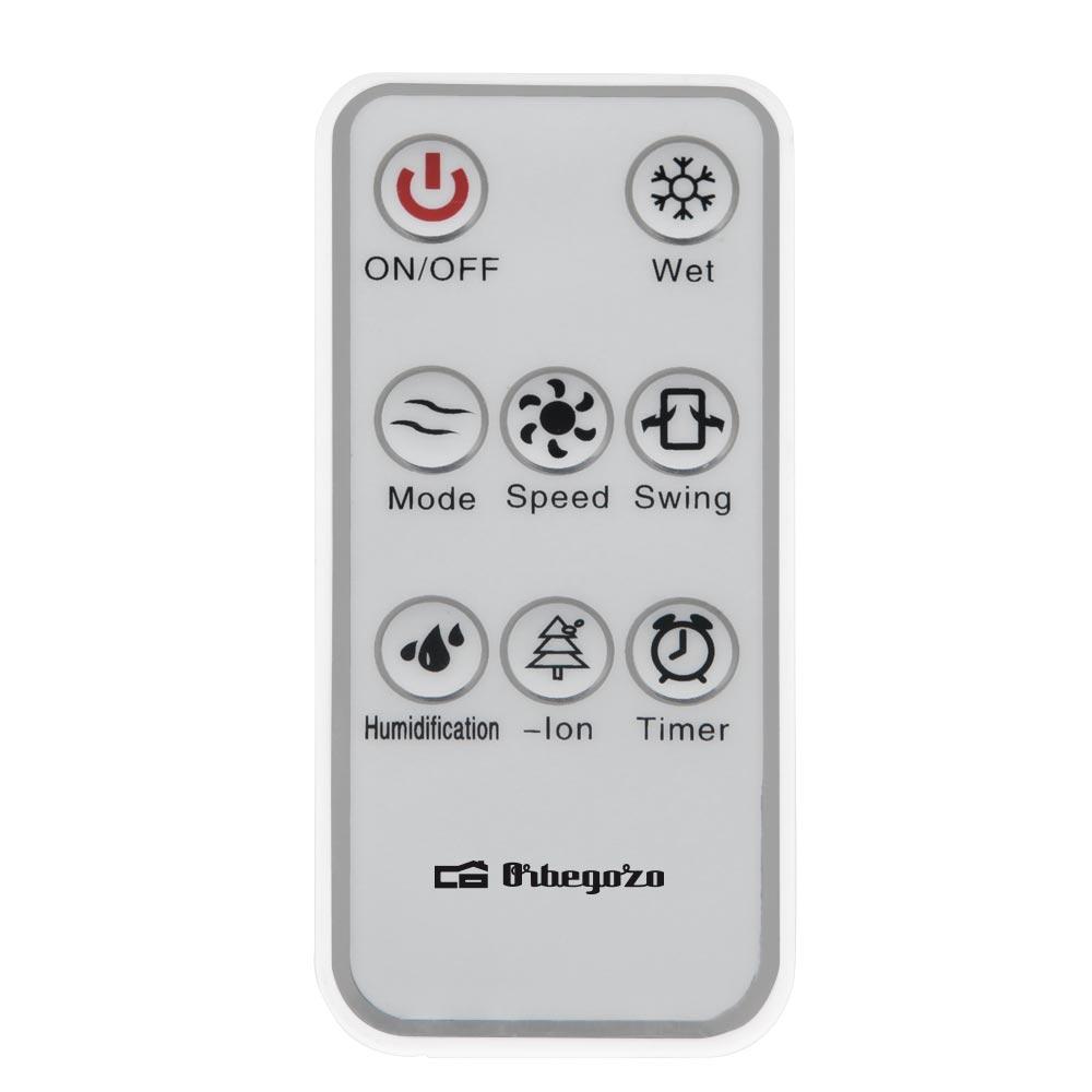 mando a distancia climatizador orbegozo tactil