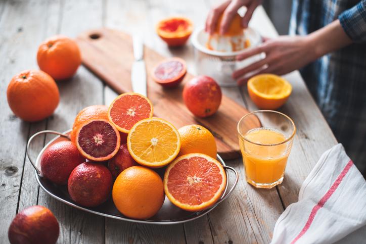 naranjas exprimidas