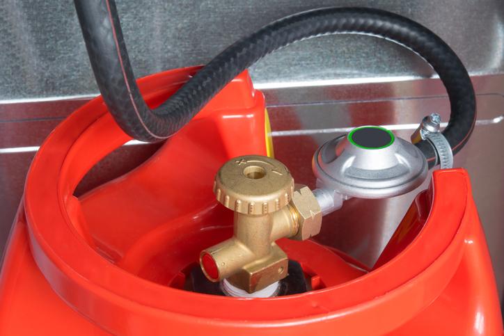 compartimento bombona estufa gas portatil delonghi